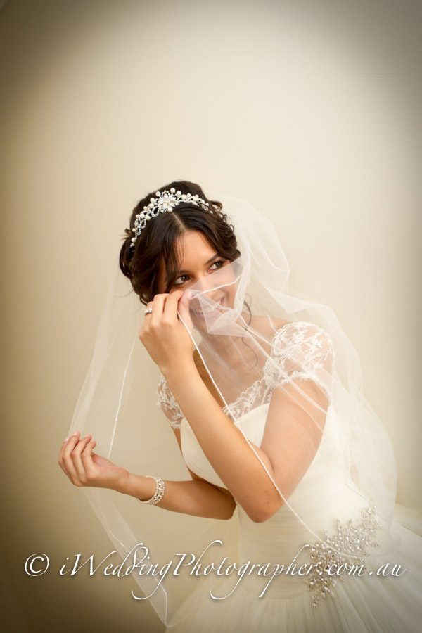 The smiling bride